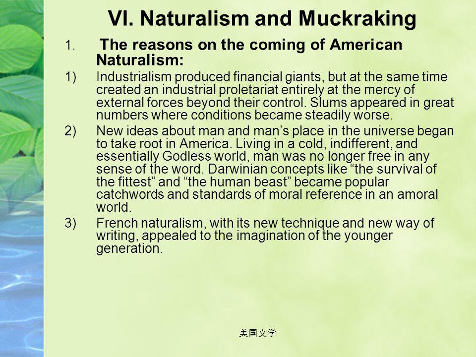 美国文学 Assignment Search for information about American Naturalism on the net or elsewhere and give an oral presentation about features of naturalism or