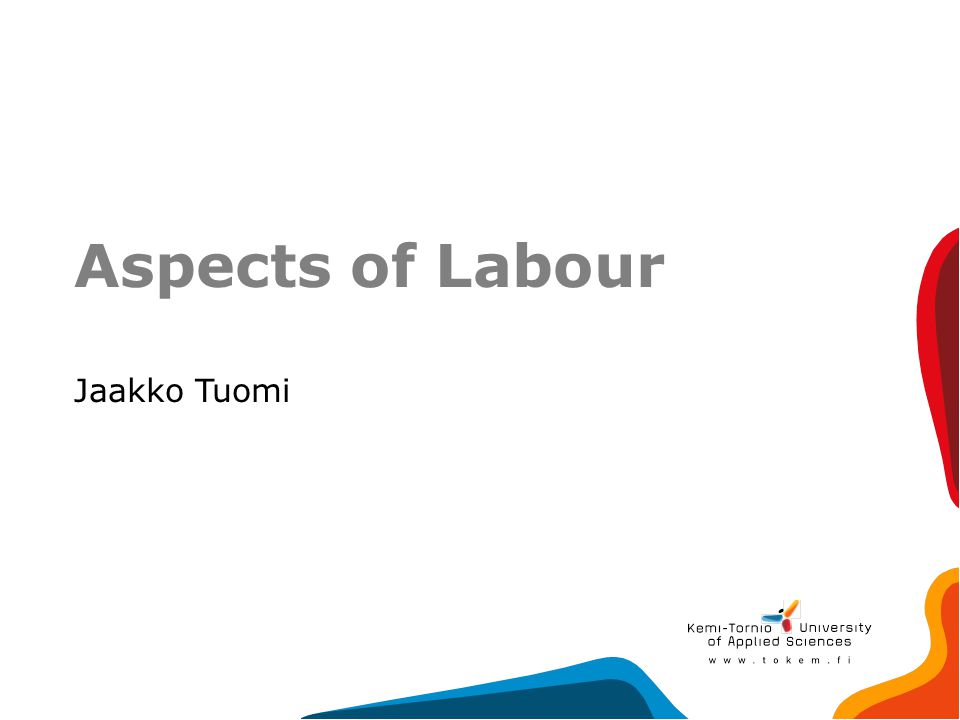 Aspects of Labour Jaakko Tuomi