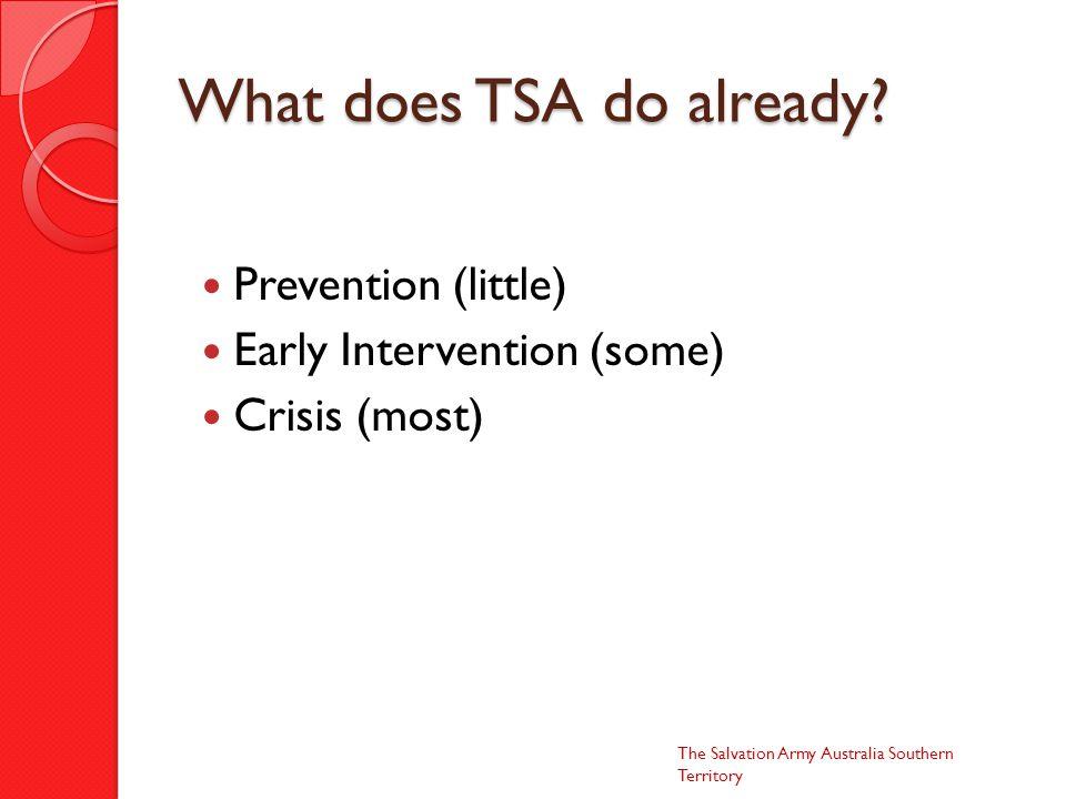 What does TSA do already.