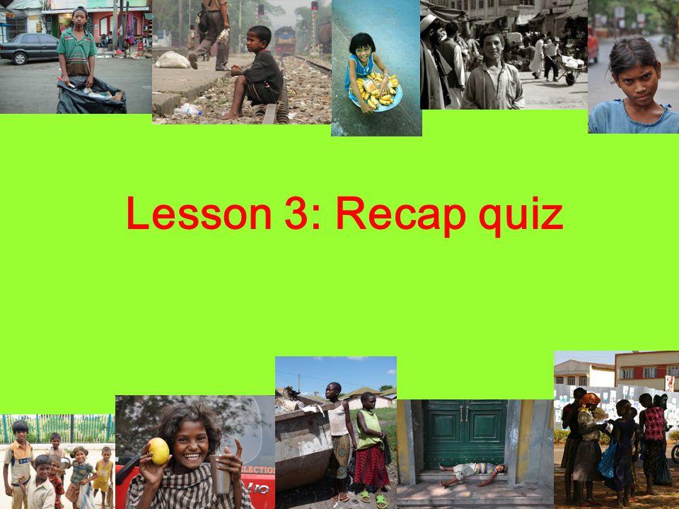 Lesson 3: Recap quiz
