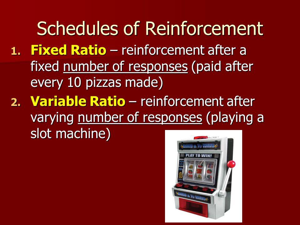 Schedules of Reinforcement 1.