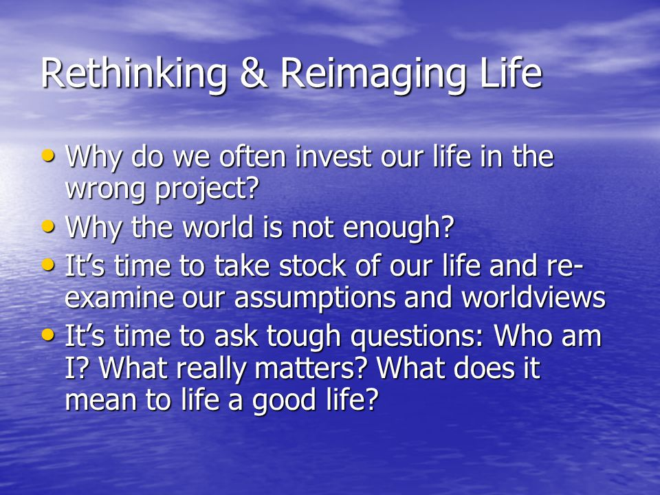 The Meaningful Living (M4L) Project M4L provides a global vision and roadmap for meaningful living M4L provides a global vision and roadmap for meaningful living Viktor Frankl's Man's Search for Meaning Viktor Frankl's Man's Search for Meaning Scott Peck's The Road Less Travelled Scott Peck's The Road Less Travelled Based on positive psychology research time-proven wisdoms from religion, philosophy and literature Based on positive psychology research time-proven wisdoms from religion, philosophy and literature