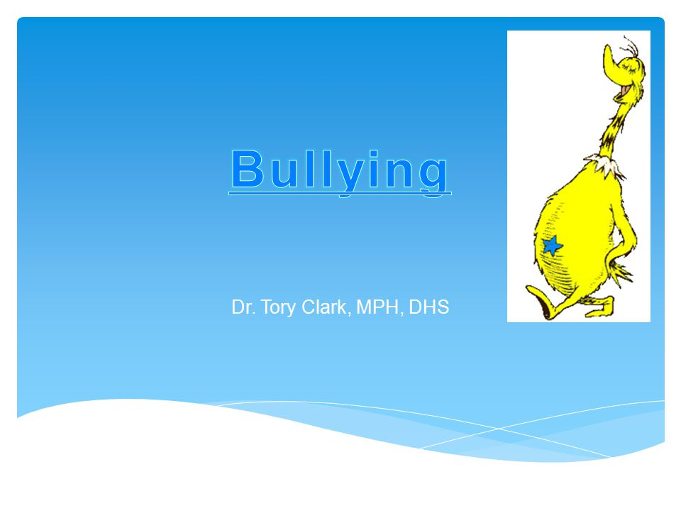  90% of middle school students they polled had their feelings hurt online  65% of their students between 8-14 have been involved directly or indirectly in a cyber bullying incident as the cyber bully, victim or friend  40% had their password stolen and changed by a bully (locking them out of their own account) or sent communications posing as them Prevalence Cont'