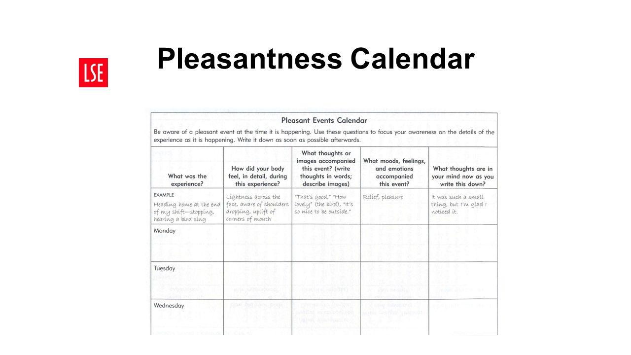 Pleasantness Calendar