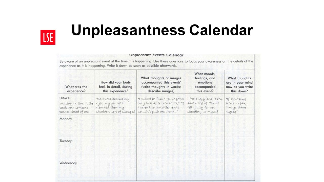 Unpleasantness Calendar