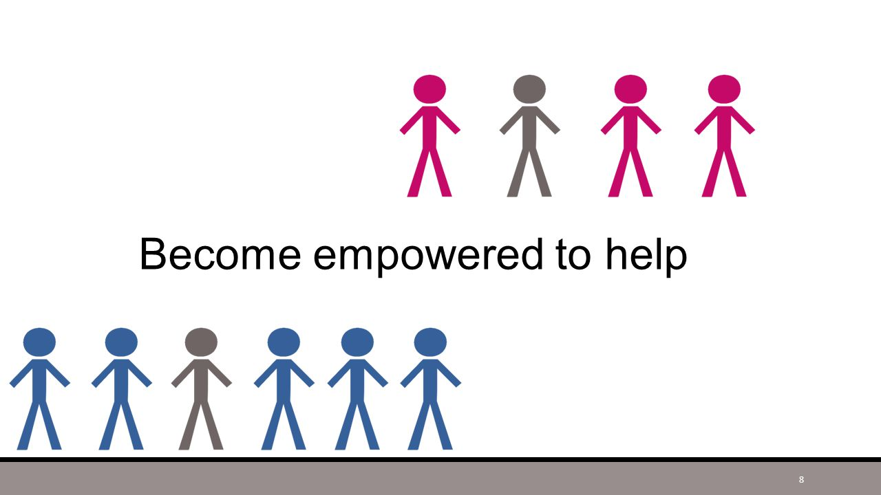 Become empowered to help 8