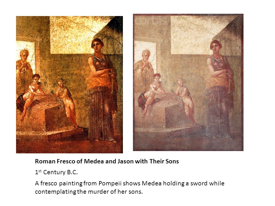 Medea Killing Child Campanian red-figure neck-amphora c.