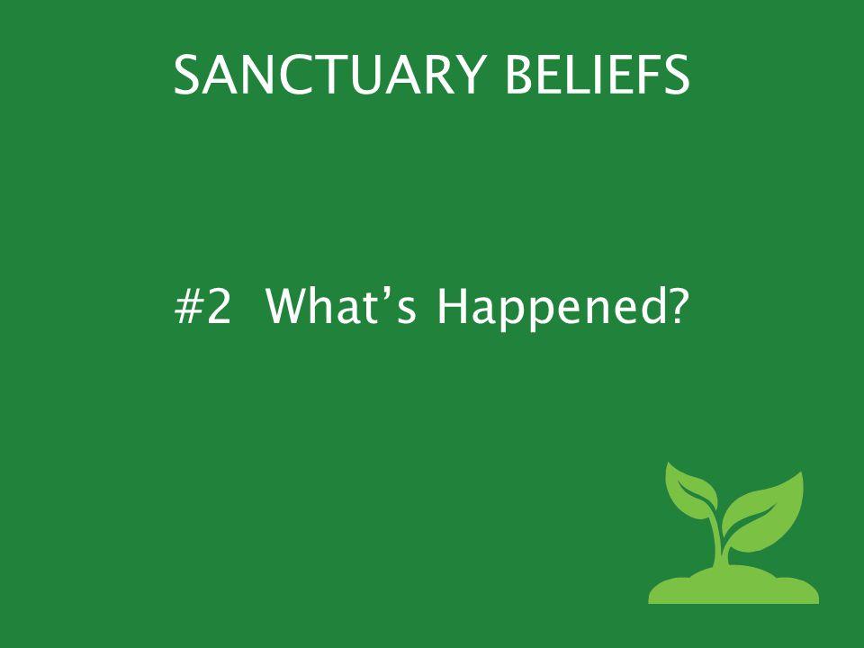 SANCTUARY BELIEFS #2 What's Happened