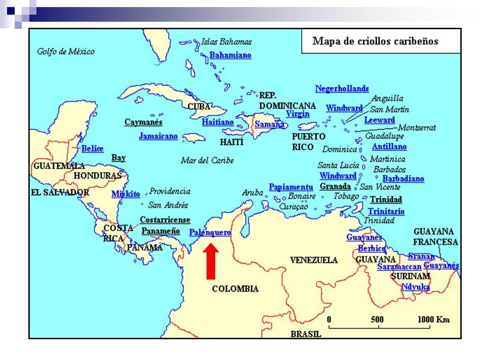 Samples of Palenquero Ele kelé ba.(El quería.) I taba enfemá.
