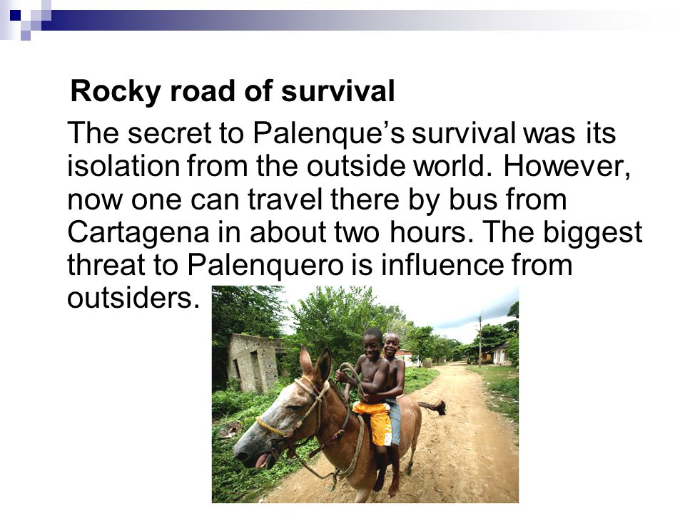 Rocky road of survival The secret to Palenque's survival was its isolation from the outside world.