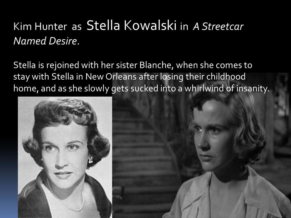 Kim Hunter as Stella Kowalski in A Streetcar Named Desire.