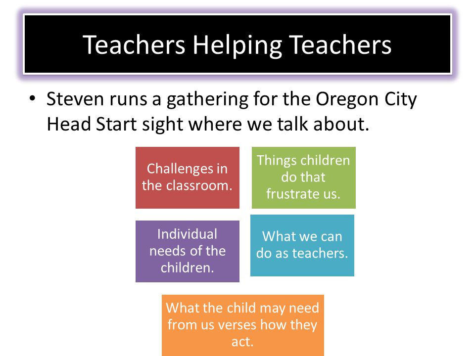 Steven runs a gathering for the Oregon City Head Start sight where we talk about.