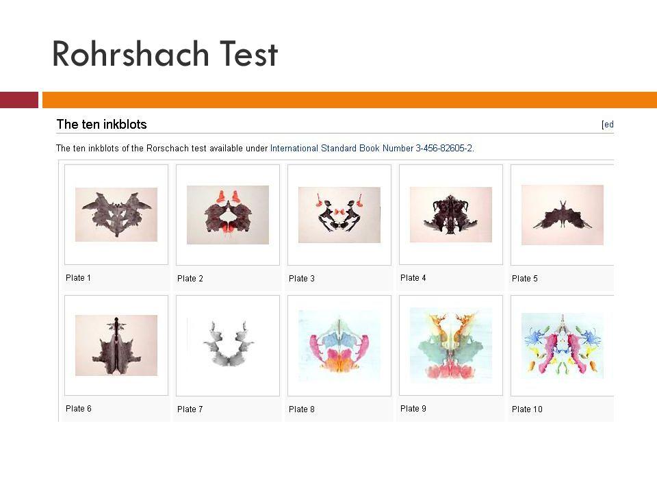 Rohrshach Test