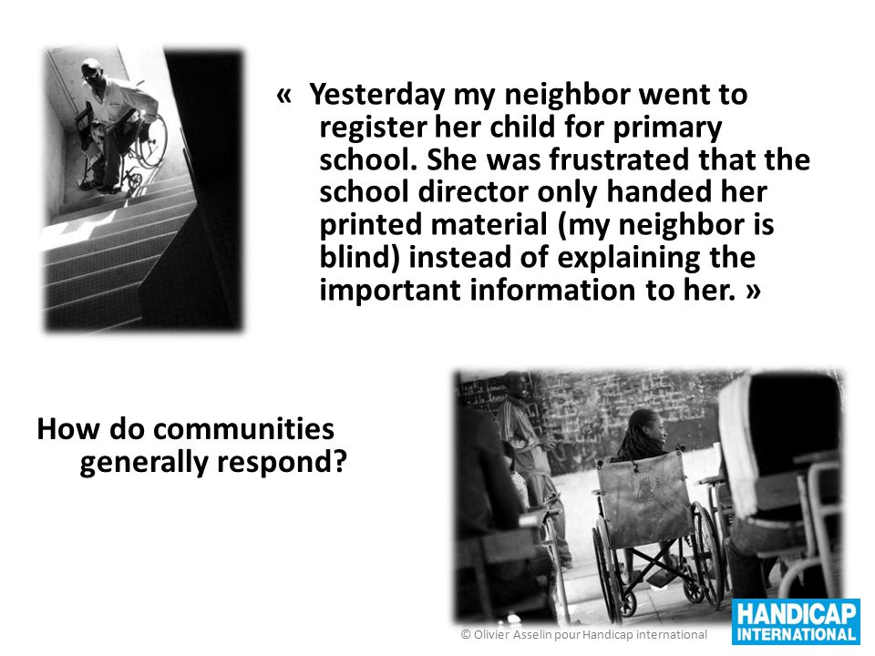 « Yesterday my neighbor went to register her child for primary school. She was frustrated that the school director only handed her printed material (m