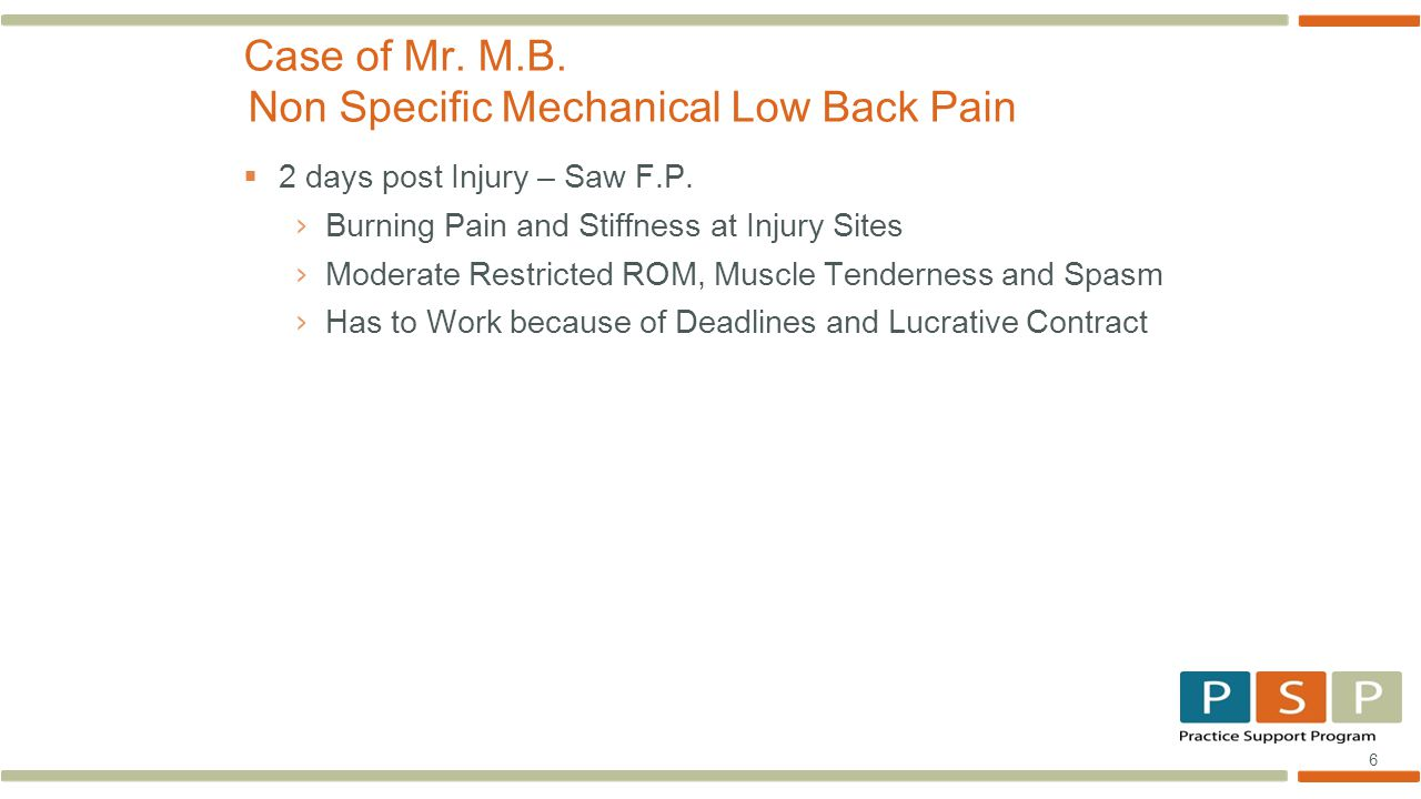 17  6 MONTHS POST Injury – F.P.