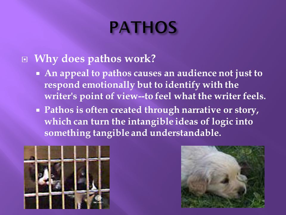  Why does pathos work.