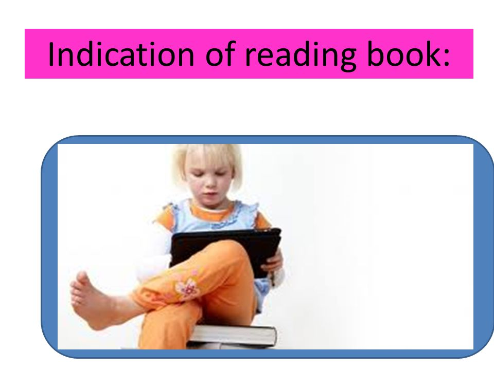 Indication of reading book: