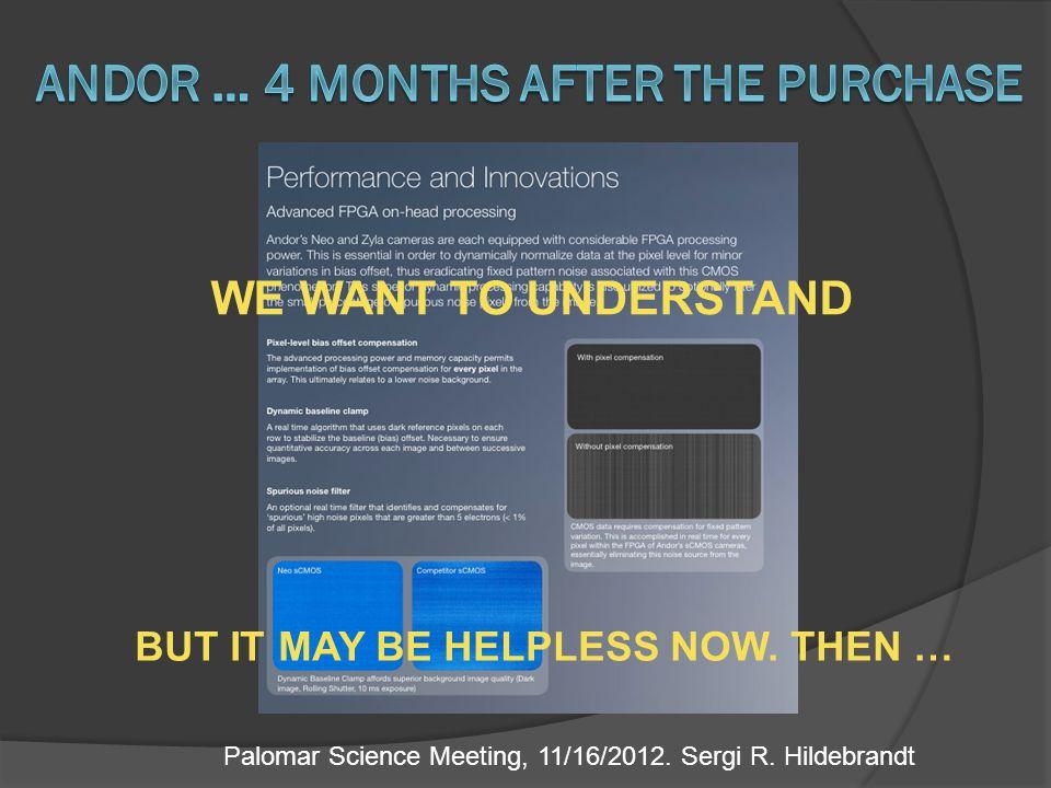 Palomar Science Meeting, 11/16/2012. Sergi R.