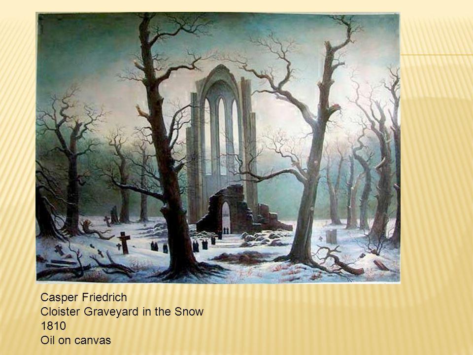 Casper Friedrich Cloister Graveyard in the Snow 1810 Oil on canvas