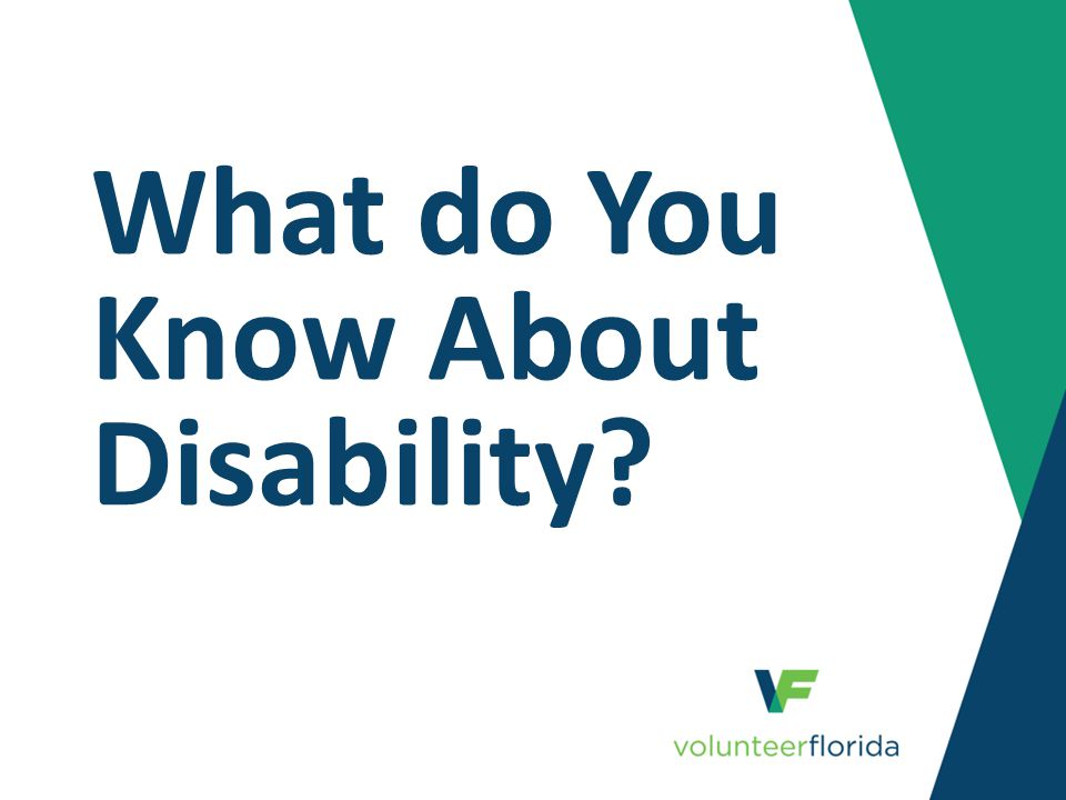 What do You Know About Disability