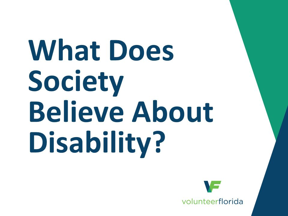 What Does Society Believe About Disability