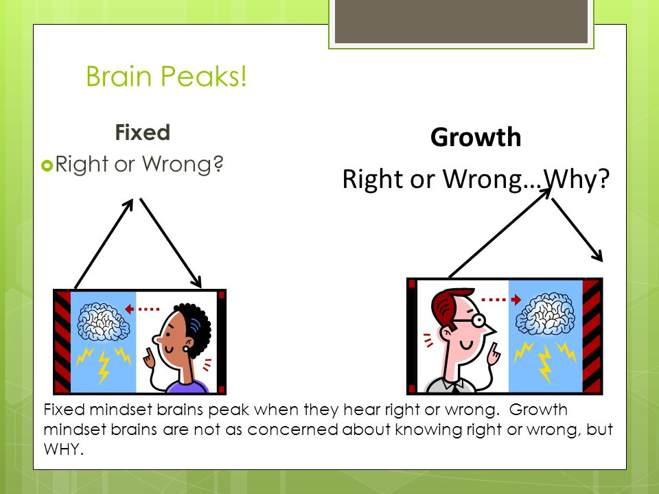 Brain Peaks. Fixed  Right or Wrong. Growth Right or Wrong…Why.