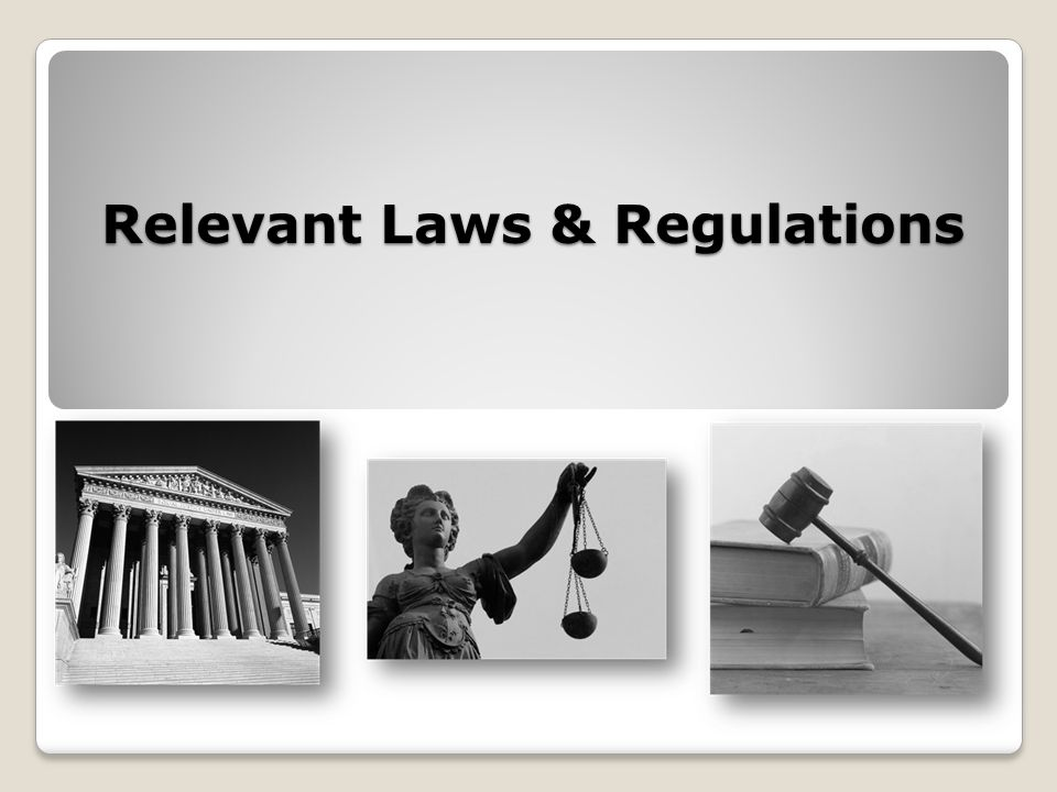 Relevant Laws & Regulations