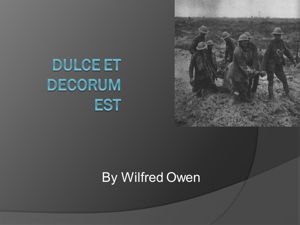 By Wilfred Owen