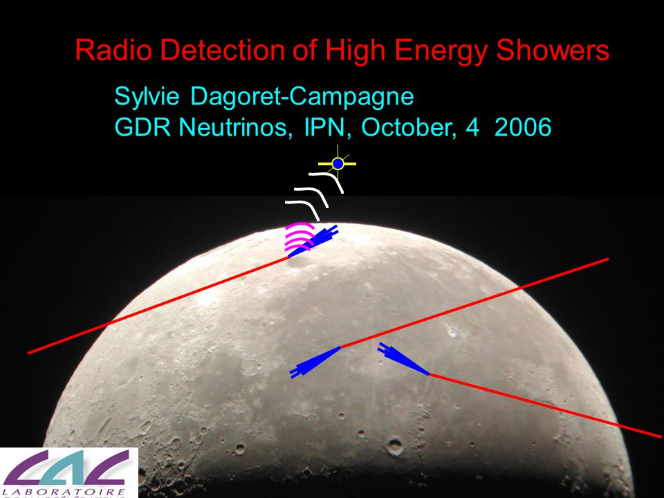 ) Radio Detection of High Energy Showers Sylvie Dagoret-Campagne GDR Neutrinos, IPN, October, 4 2006