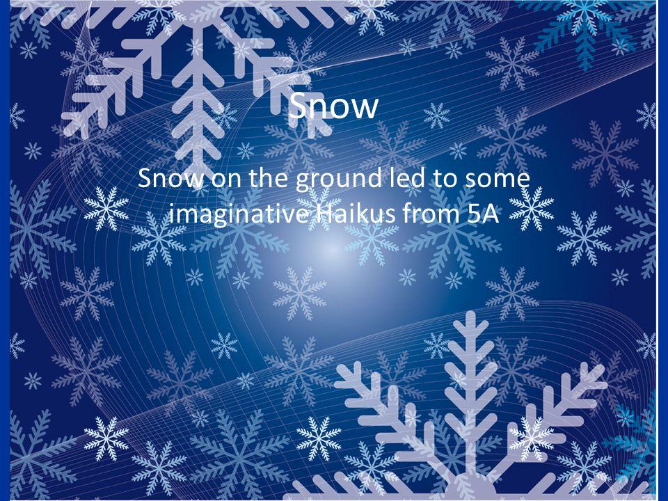 Wonderful snow left On an unforgiving ground. Too soon – winter's gone. Ahad Zeb