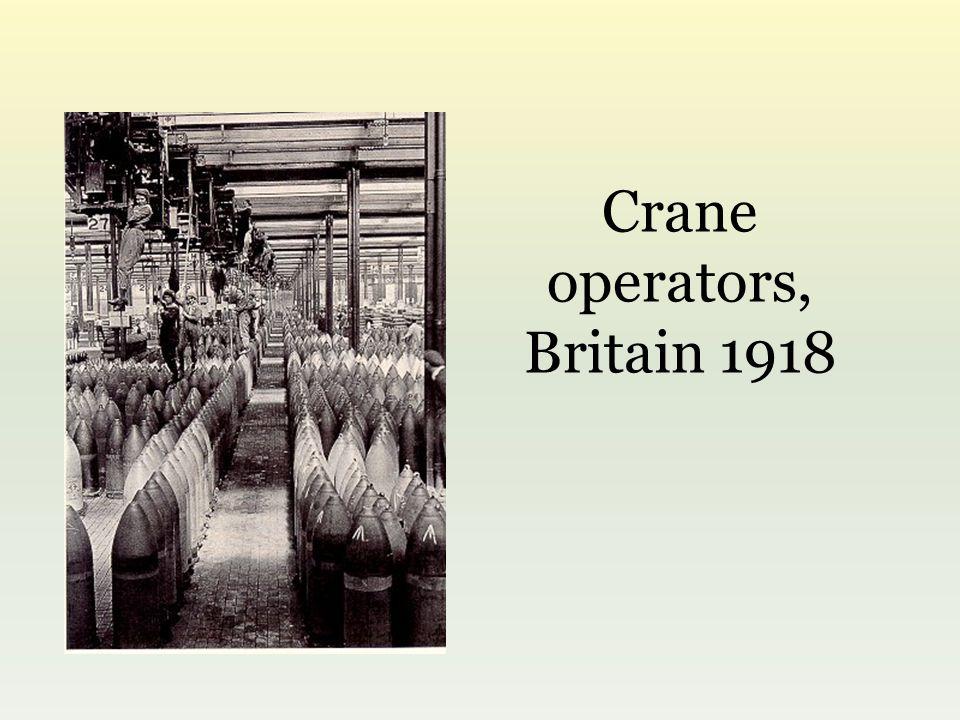 Crane operators, Britain 1918