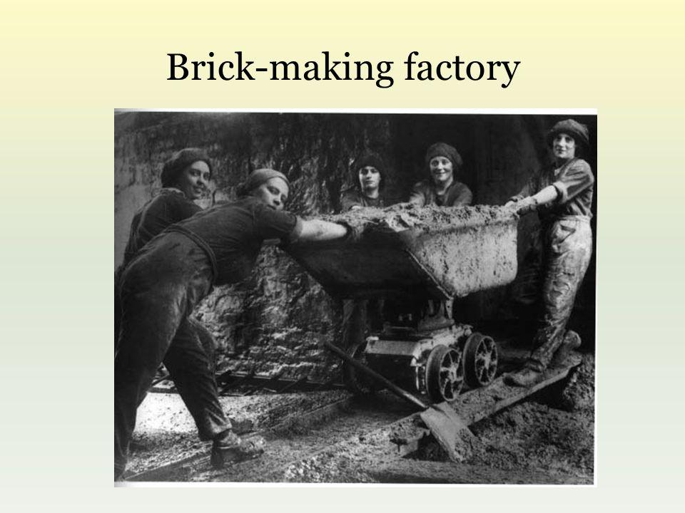 Brick-making factory