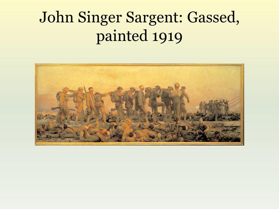 John Singer Sargent: Gassed, painted 1919