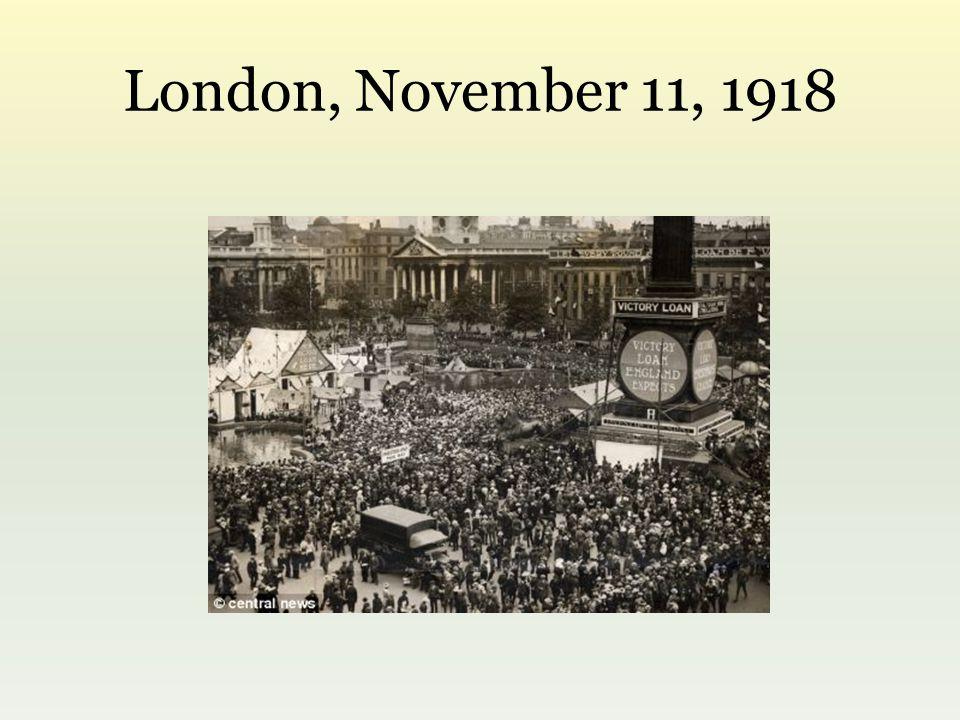 London, November 11, 1918