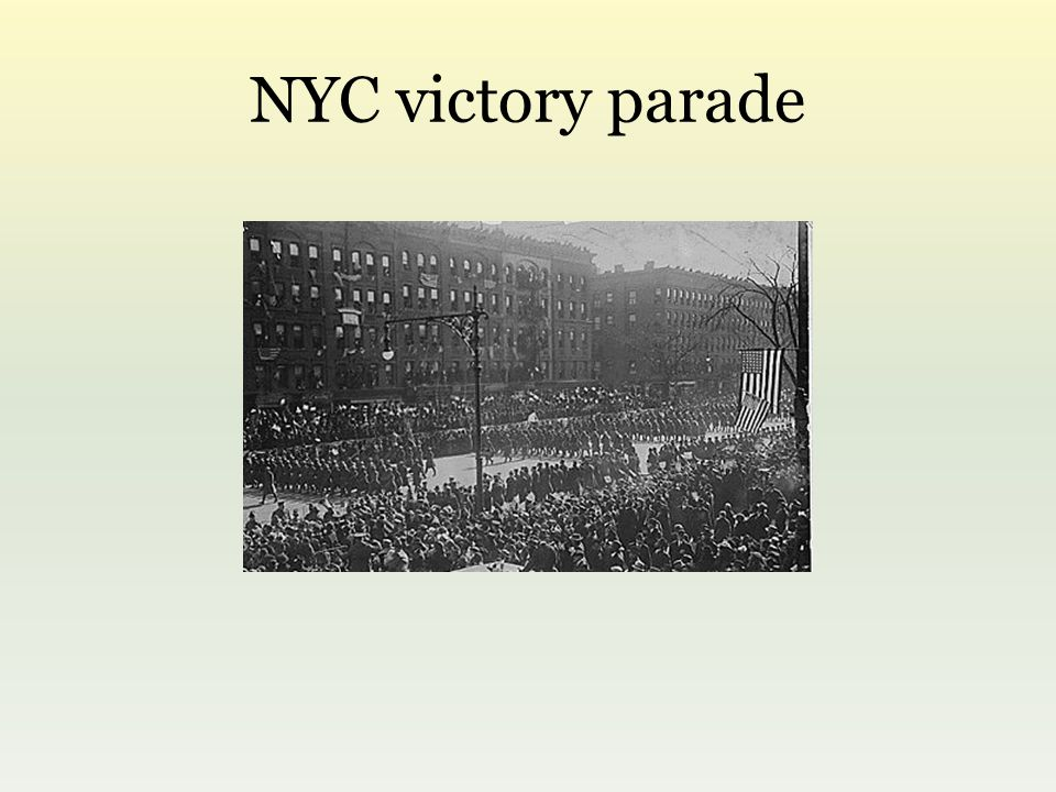 NYC victory parade