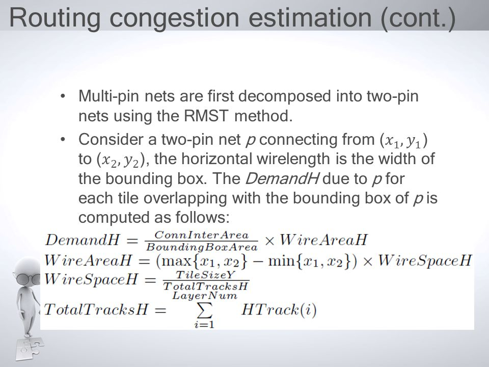 Routing congestion estimation (cont.)