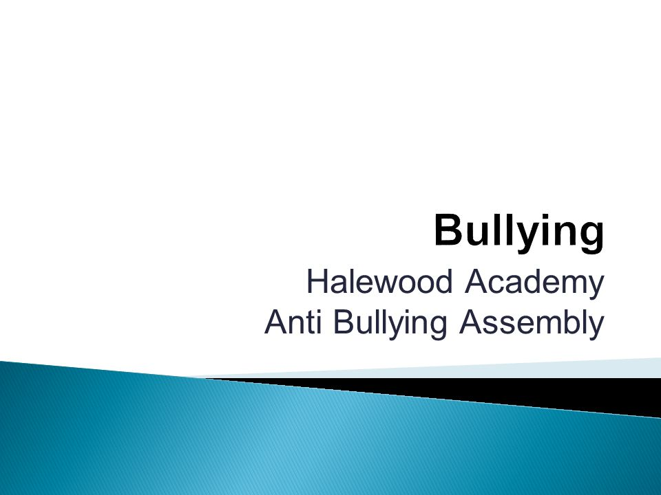 Halewood Academy Anti Bullying Assembly