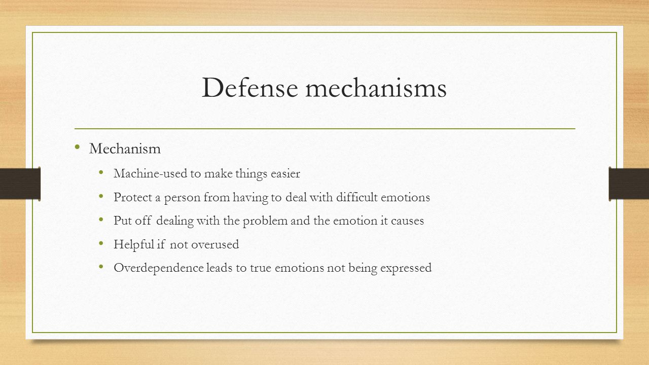 Learning Log Come up with positive ways to handle each of these defense mechanisms