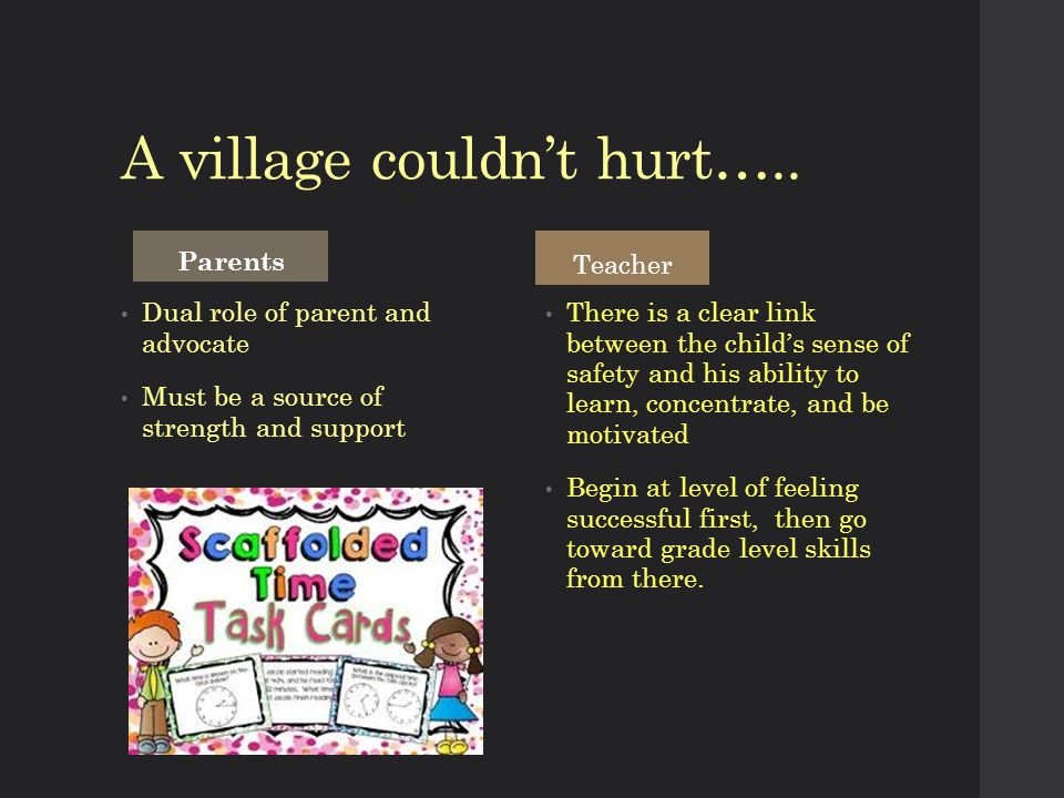 A village couldn't hurt…..