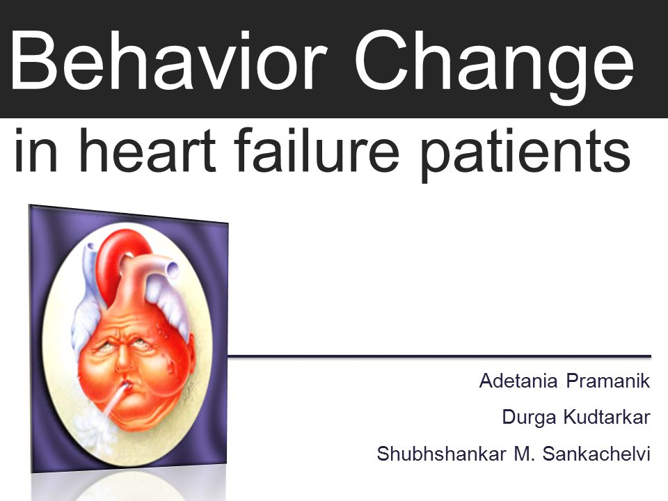Behavior Change in heart failure patients Adetania Pramanik Durga Kudtarkar Shubhshankar M.