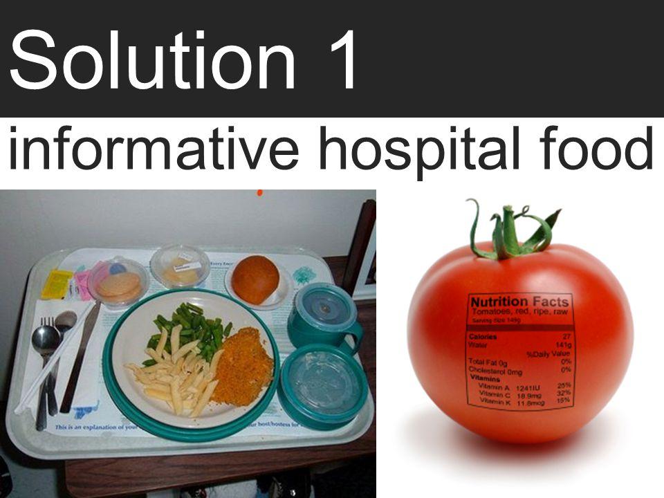 informative hospital food
