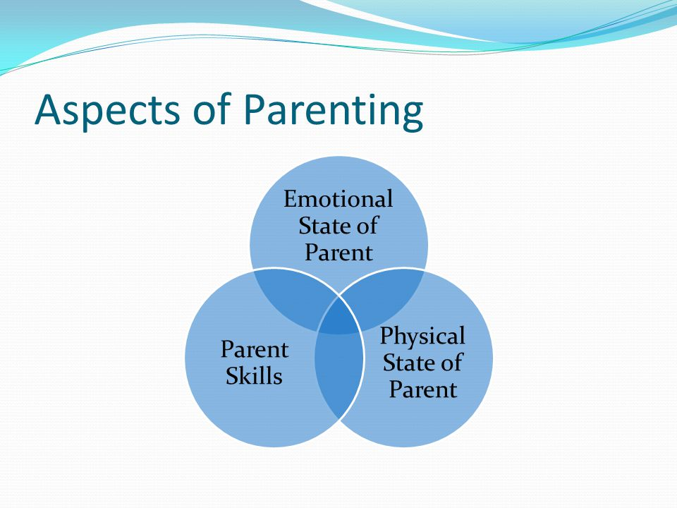 Aspects of Parenting Emotional State of Parent Physical State of Parent Parent Skills