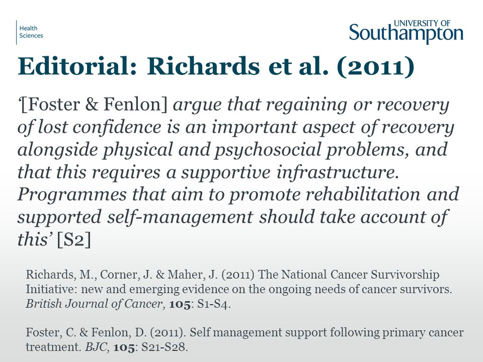 Editorial: Richards et al.