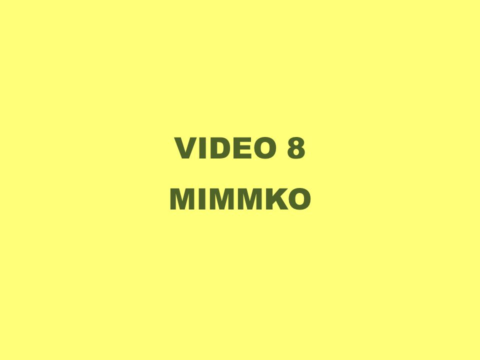 VIDEO 8 MIMMKO