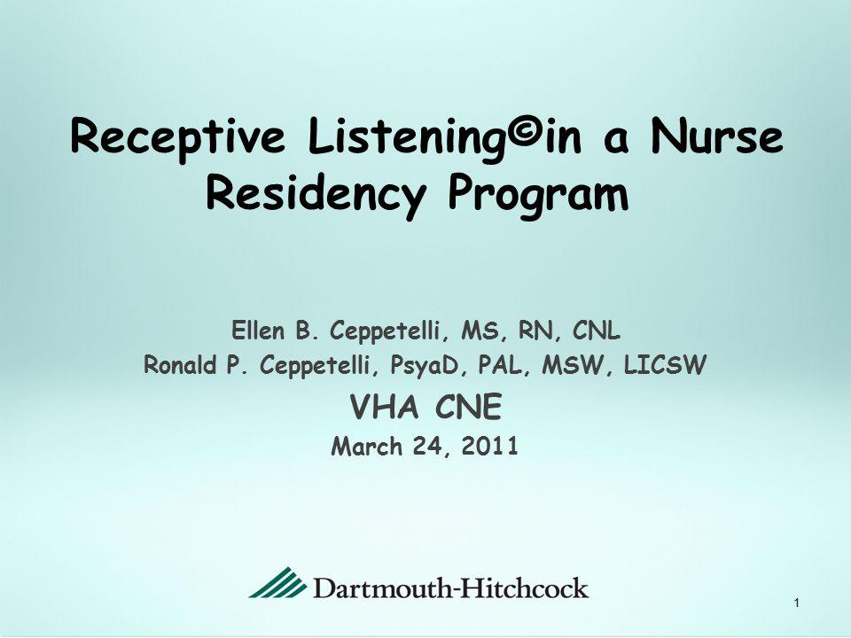 Ellen B.Ceppetelli, MS, RN, CNL Ronald P.