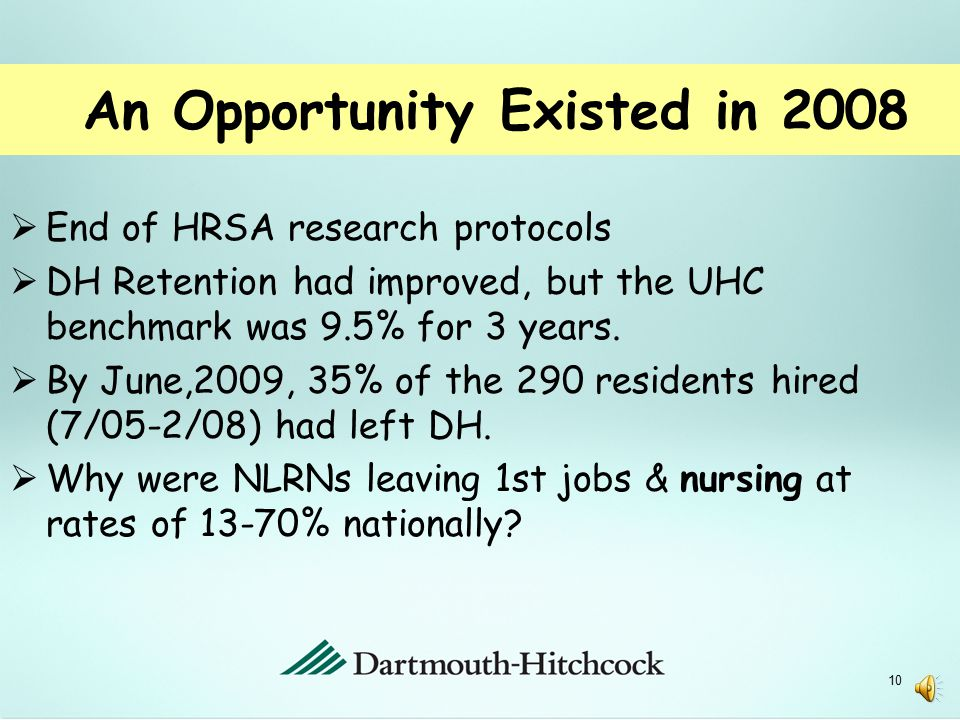 Setting the Stage  2003:  EB Preceptor Program implemented  Designed a NRP with HPS  2004:  3-month NRP with HPS implemented  2005-2008  NRP funded by HRSA