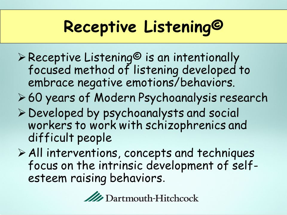  Purpose is to provide a safe environment where nurse residents can put thoughts and feelings into language.