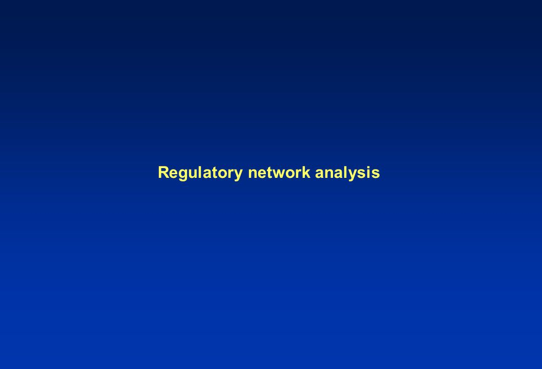 Regulatory network analysis