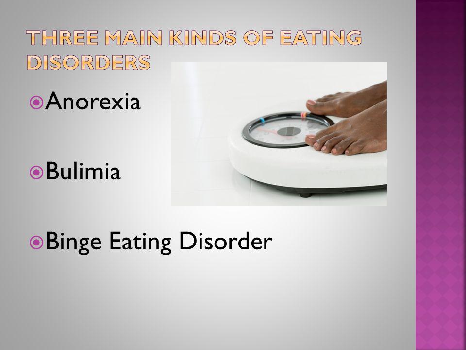  Anorexia  Bulimia  Binge Eating Disorder
