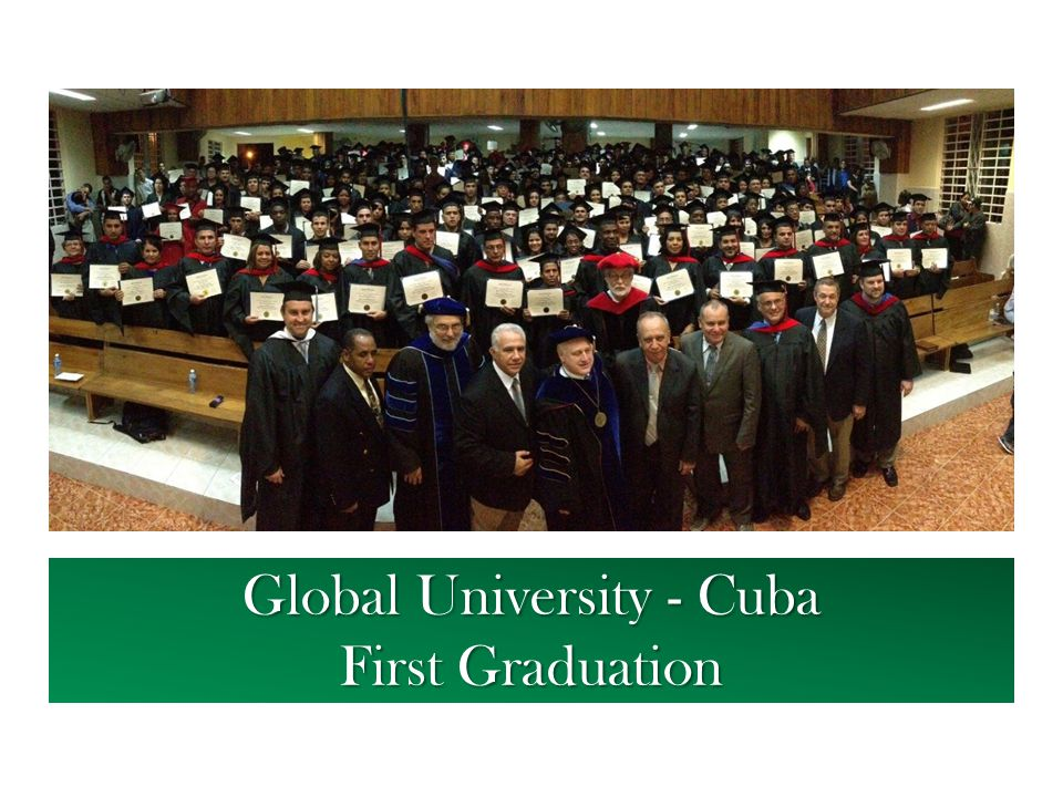 Global University - Cuba First Graduation
